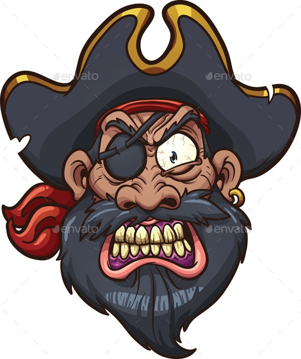 Angry Pirate - Characters Vectors