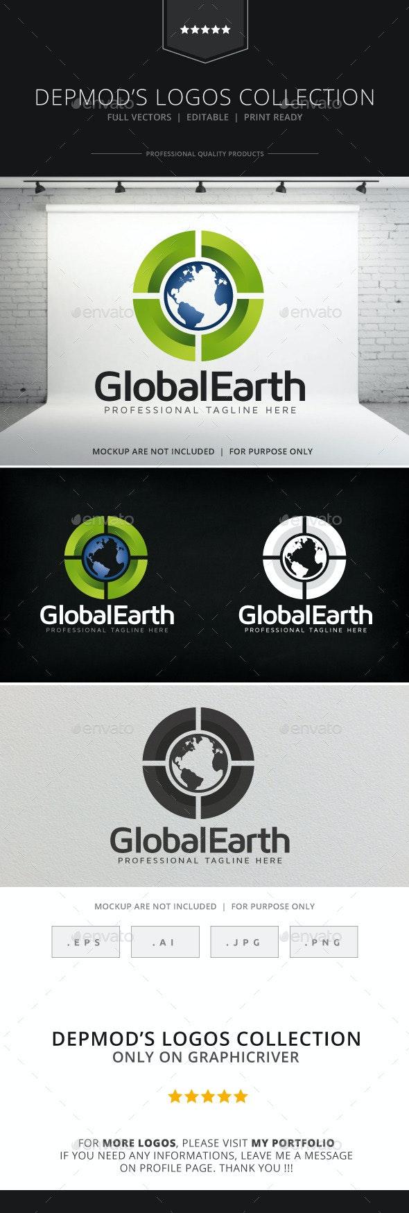 Global Earth Logo - Symbols Logo Templates