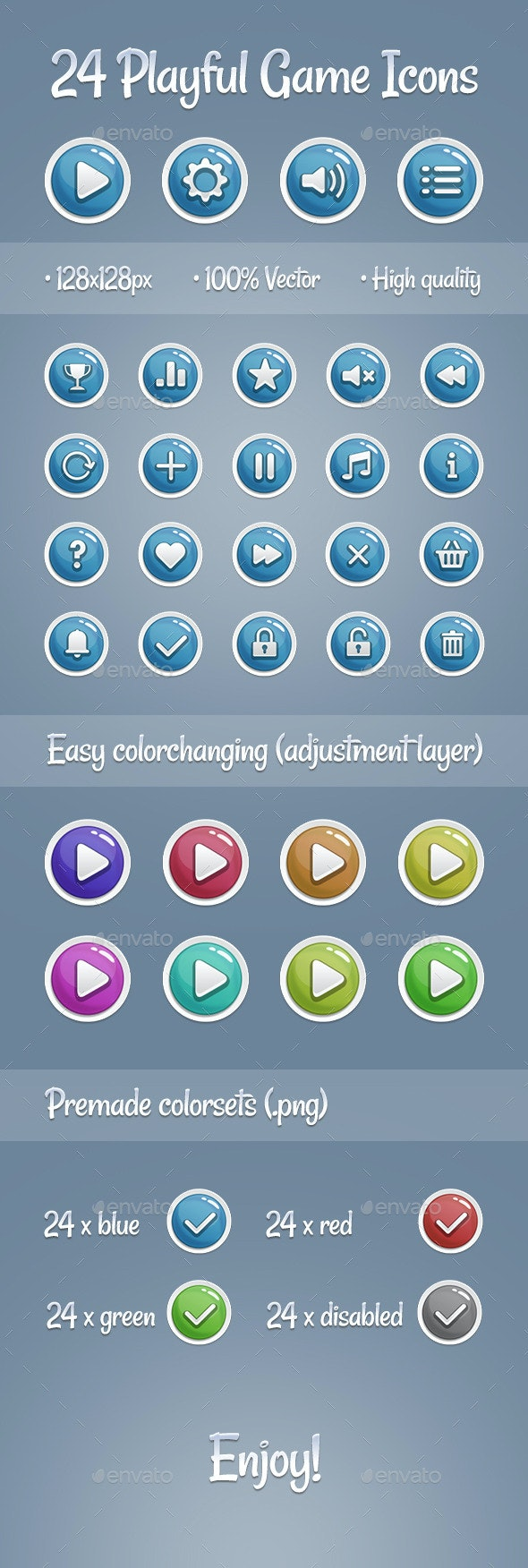 Playful Game Icons - Miscellaneous Icons