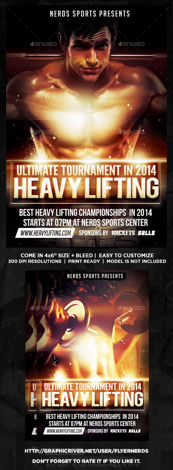 Heavy Lifting Championships Flyer - Sports Events