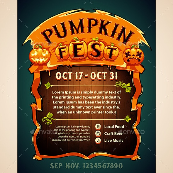 Pumpkin Fest Poster - Seasons Nature