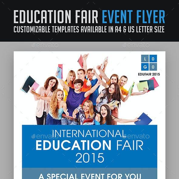 Education Fair Event Flyer