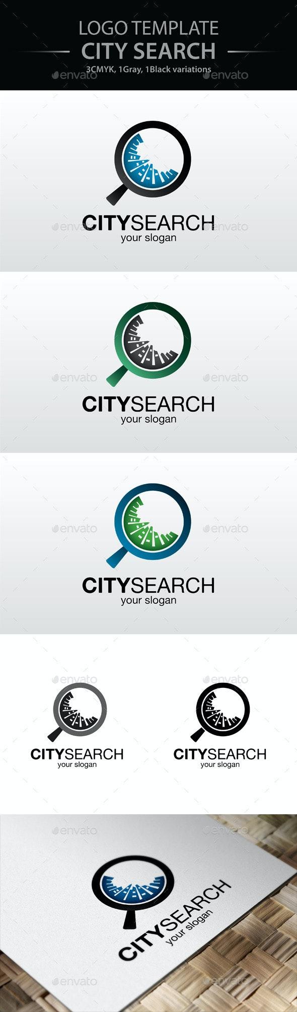 City Search Logo - Buildings Logo Templates