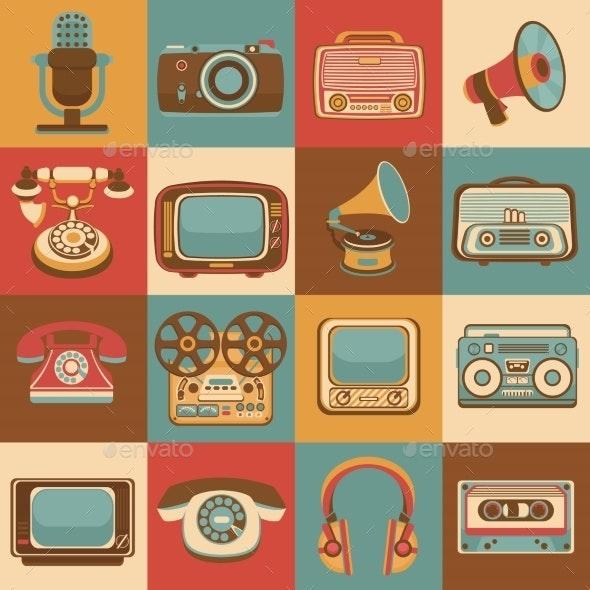 Retro Media Icons - Media Technology