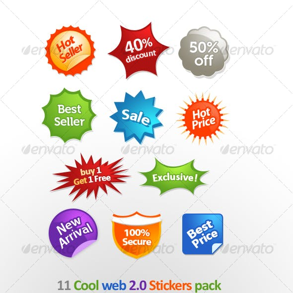 11 Cool Web 2.0 Stickers
