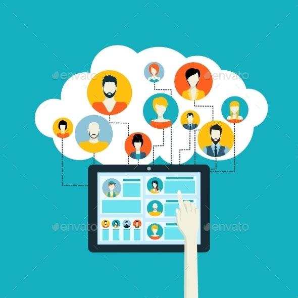 Social Network Concept - Communications Technology