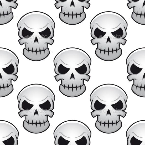 Seamless Pattern of Skulls - Halloween Seasons/Holidays