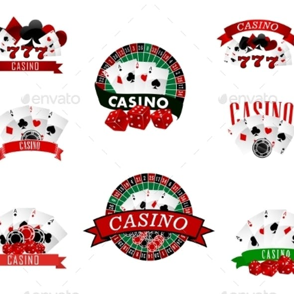 Casino and Gambling Badges