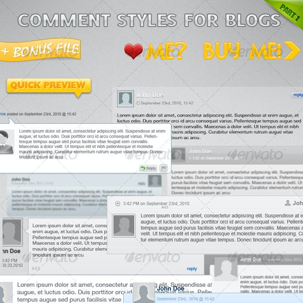 Comment Styles for Your Blog (part 1)