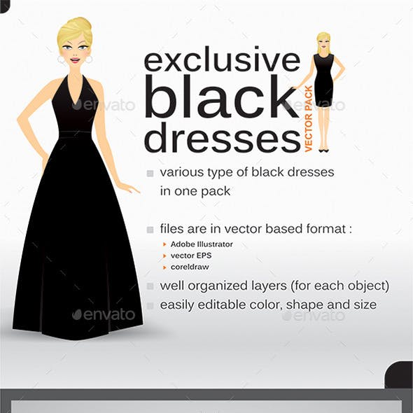 Black Dress Set