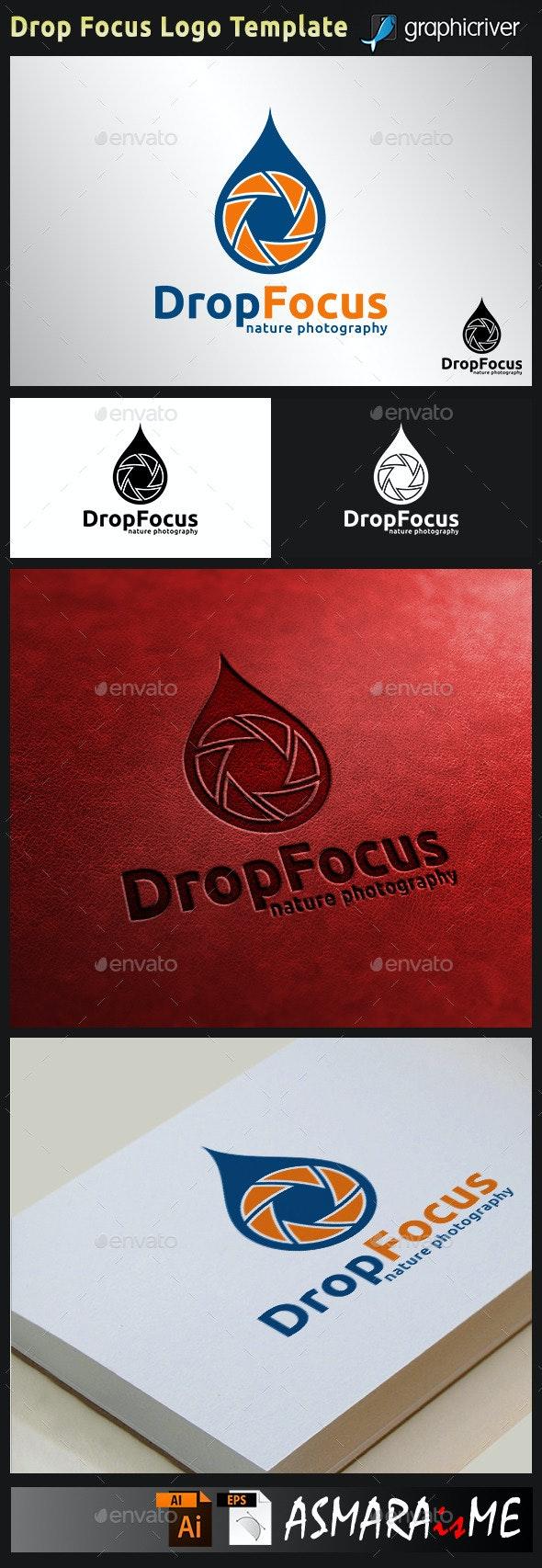 Camera Logo - Drop Focus - Shot Point Photography  - Symbols Logo Templates