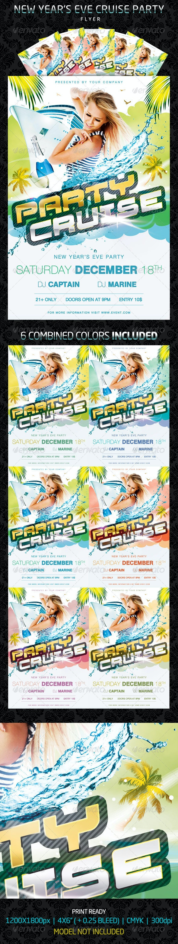 Party Cruise Flyer - Clubs & Parties Events