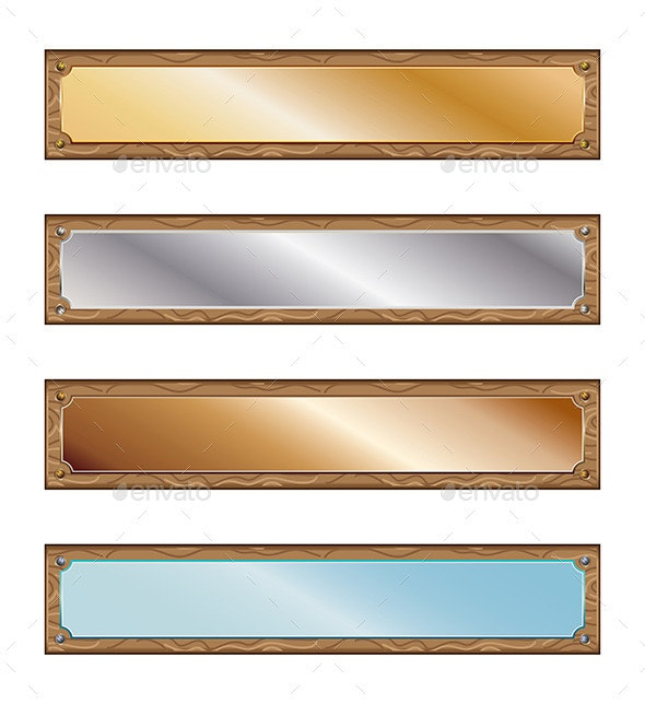 Metal Plates with Wood Frames - Business Conceptual