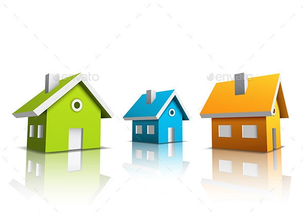 Houses - Objects Vectors