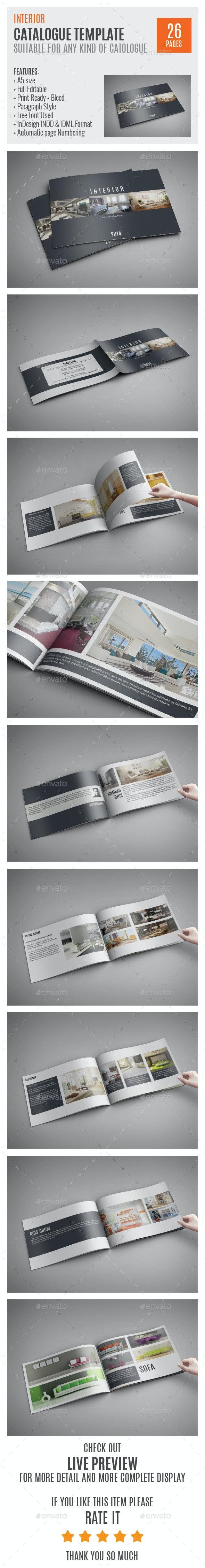 Interior A5 Catalog Template 0002 - Catalogs Brochures