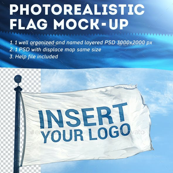 Photorealistic Flag Mock-Up