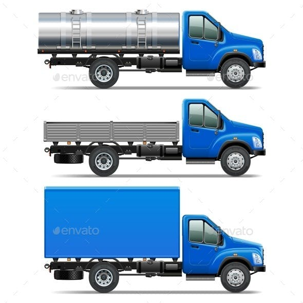 Vector Lorry Icons Set 2