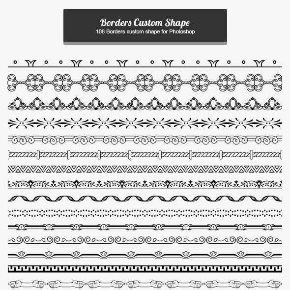 108 Borders Custom Shape