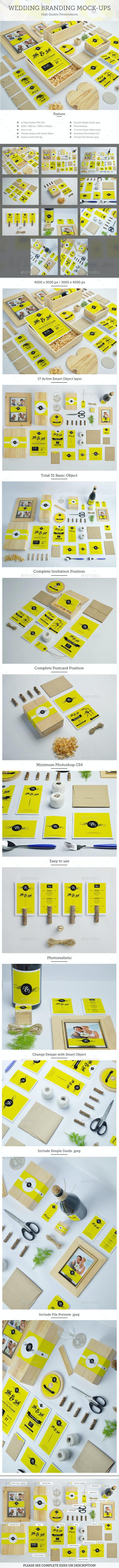Wedding Branding Mockups - Miscellaneous Product Mock-Ups