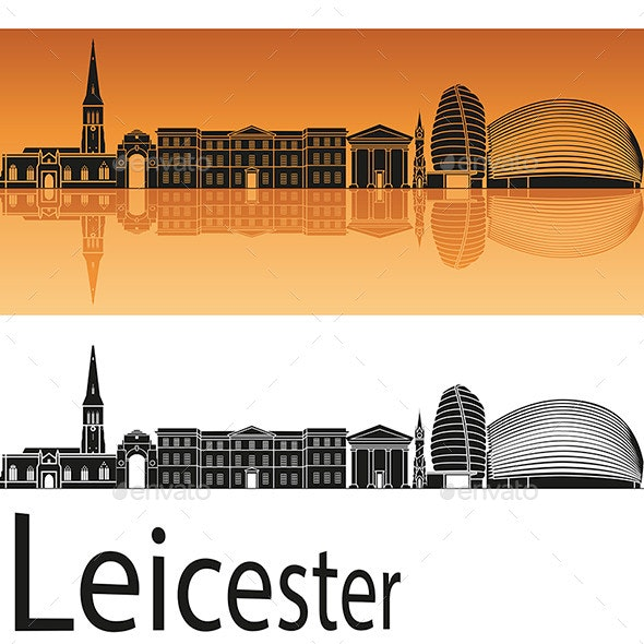 Leicester Skyline - Buildings Objects