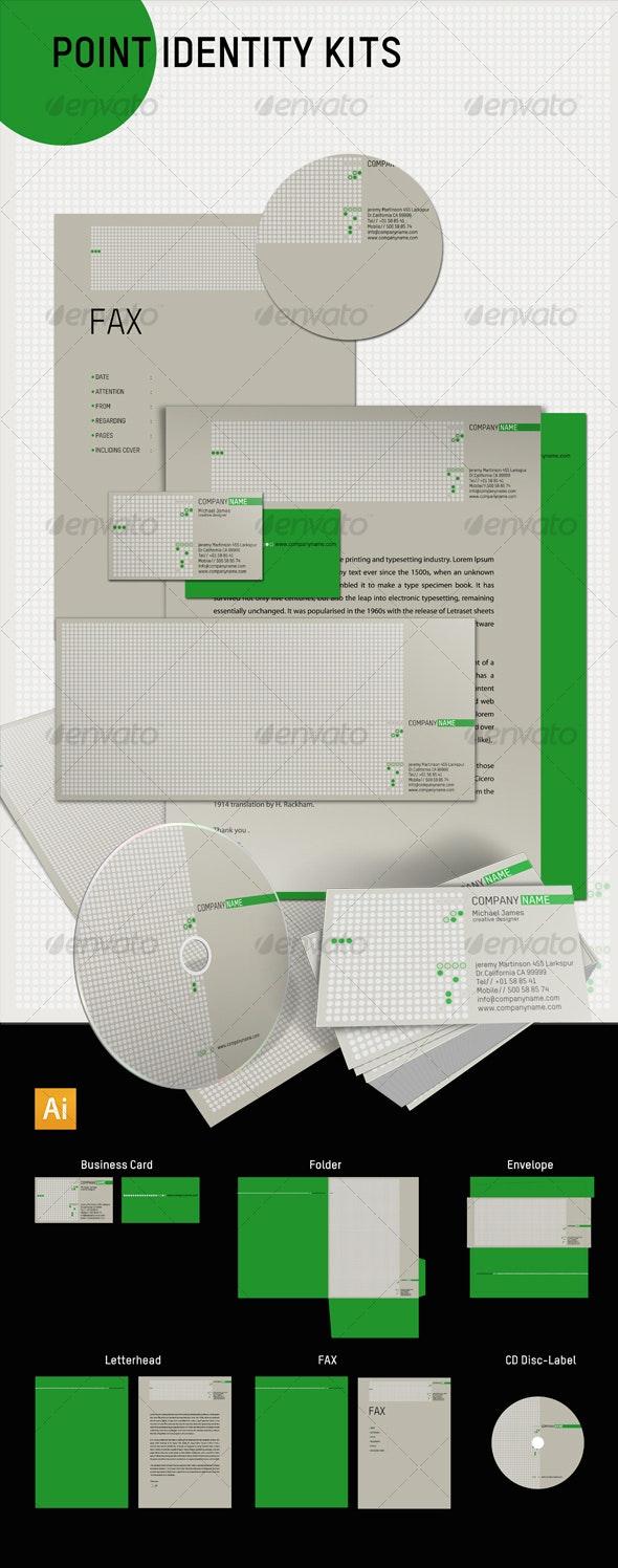 Point Identity Kits - Stationery Print Templates