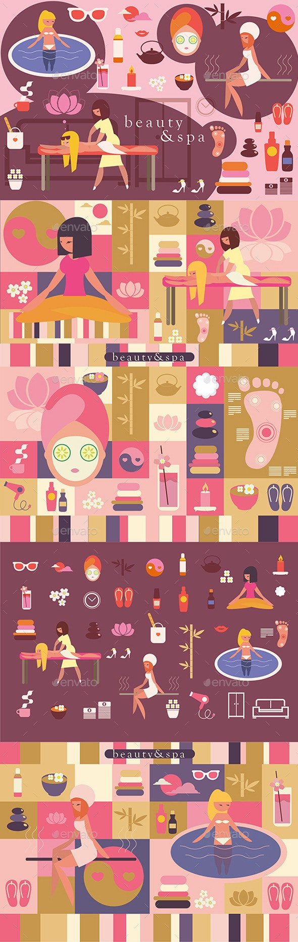 Beauty and Spa Illustrations - People Characters