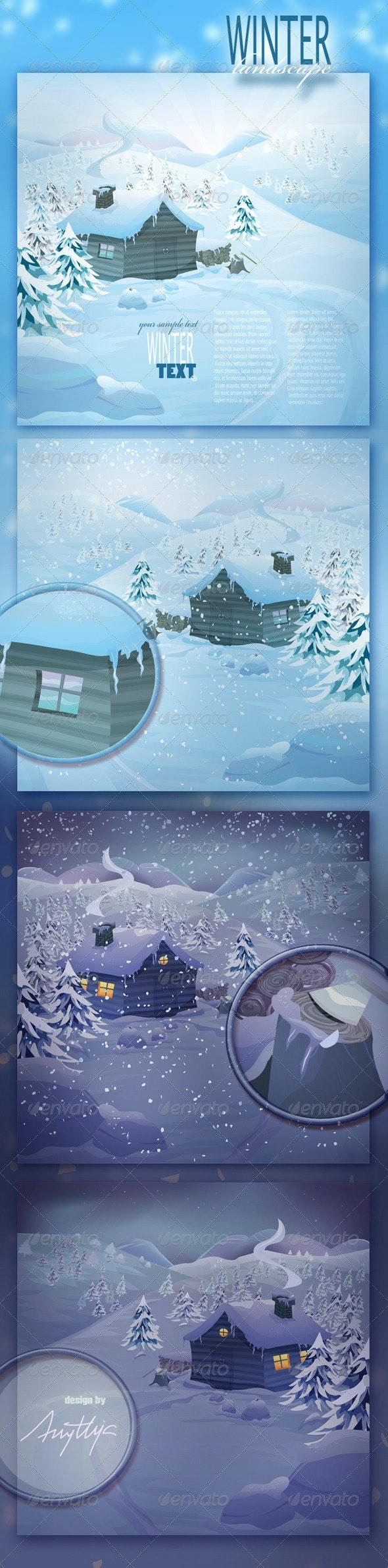 Vector Winter Landscape - Miscellaneous Characters