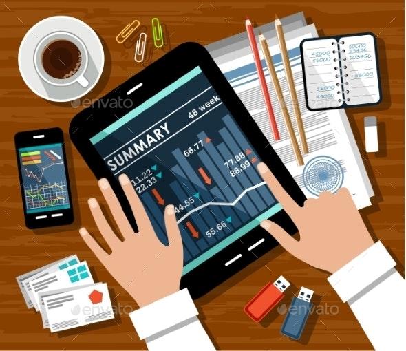 Workplace Businessman - Business Conceptual