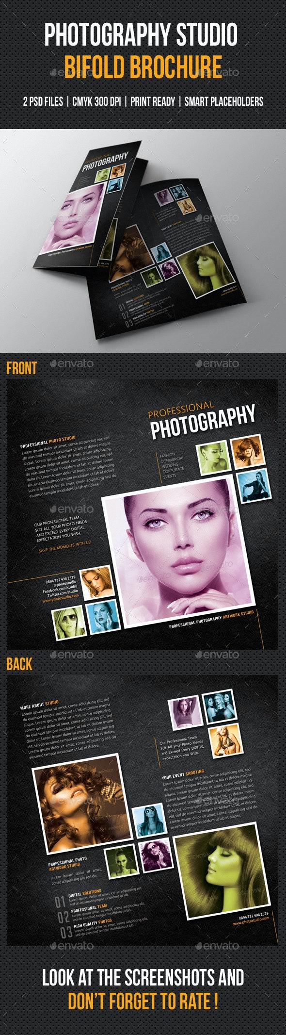 Photography Studio Bifold Brochure 02 - Portfolio Brochures