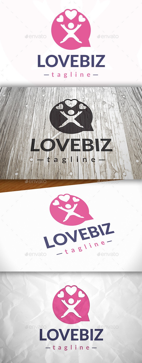 Love Chat Logo - Humans Logo Templates