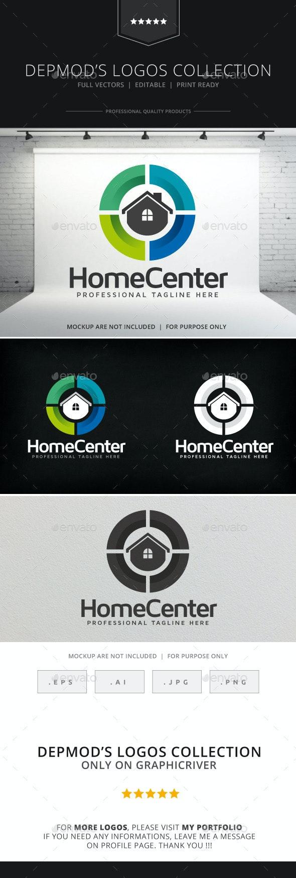 Home Center Logo - Buildings Logo Templates