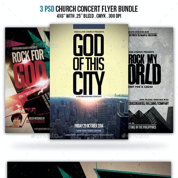 Church Concert Flyer Bundle