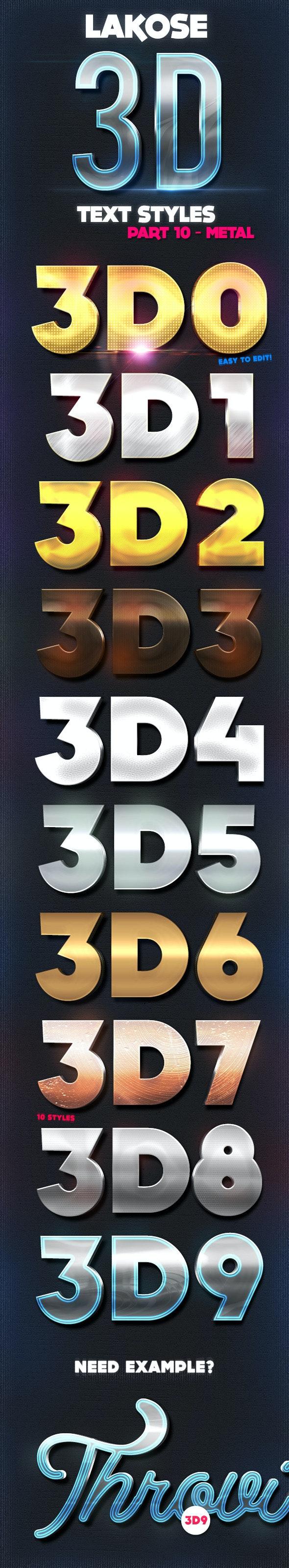 Lakose 3D Text Styles Part 10 - Text Effects Styles