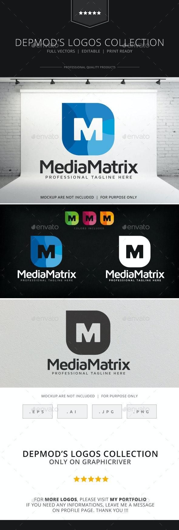 Media Matrix Logo - Letters Logo Templates