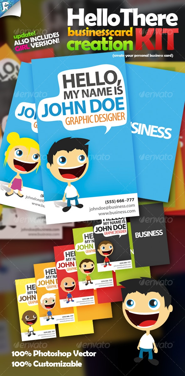 Hello There Business Card - Creation Kit - Creative Business Cards