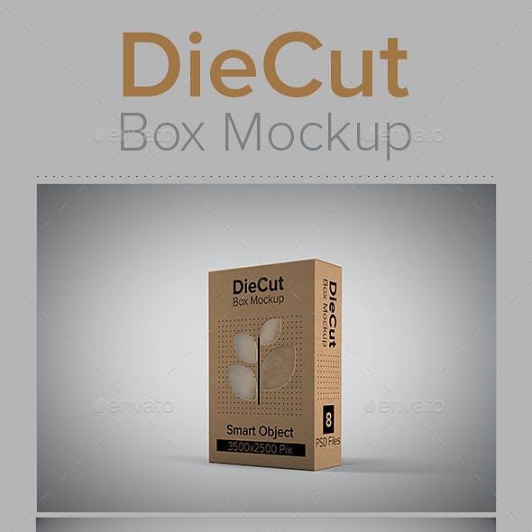 DieCut Box Mockup