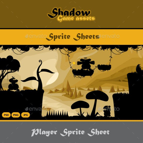 Shadow Game Assets: Sprite Sheets