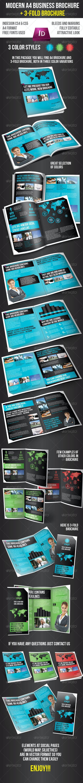 Modern Business Brochure - A4 + 3-fold - Corporate Brochures