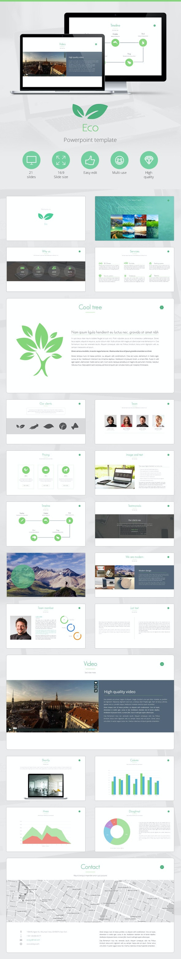 Eco Powerpoint Presentation Template - Creative PowerPoint Templates
