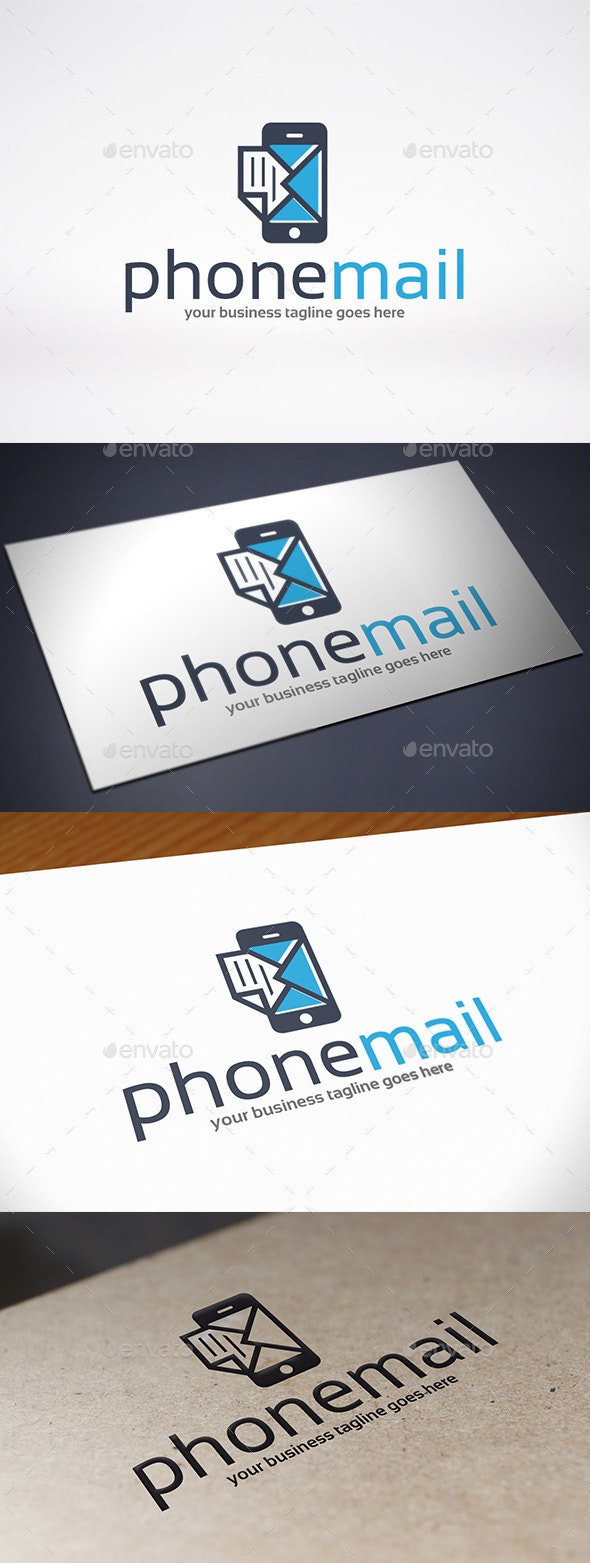 Phone Mail Logo Template - Objects Logo Templates