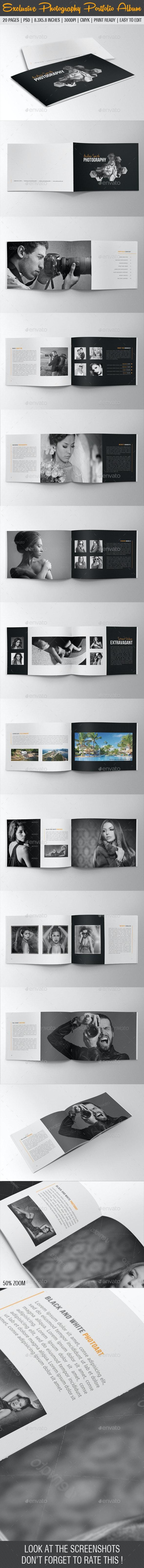 Exclusive Photography Portfolio Album 06 - Photo Albums Print Templates