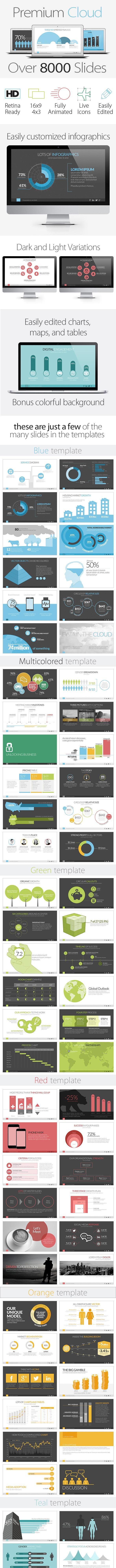 Premium Cloud - Business PowerPoint Templates