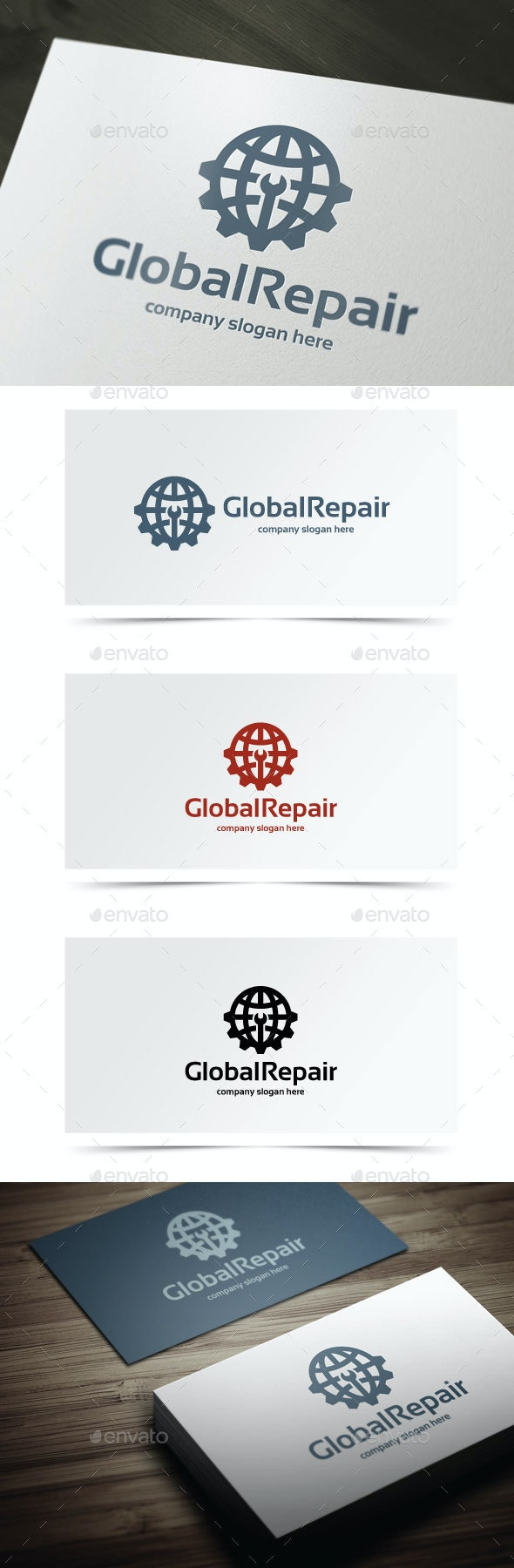 Global Repair - Objects Logo Templates