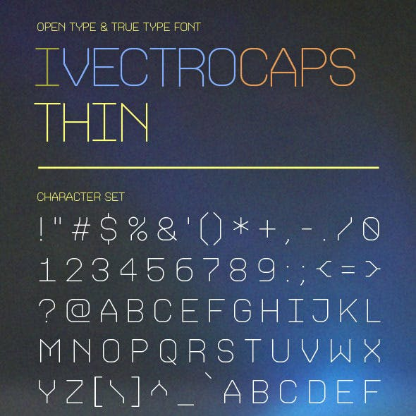 iVectroCaps Thin Font