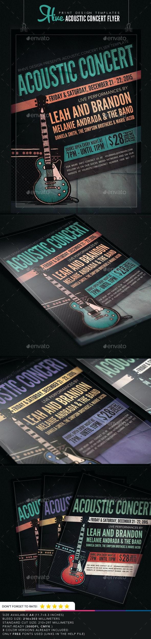 Acoustic Concert Flyer - Concerts Events