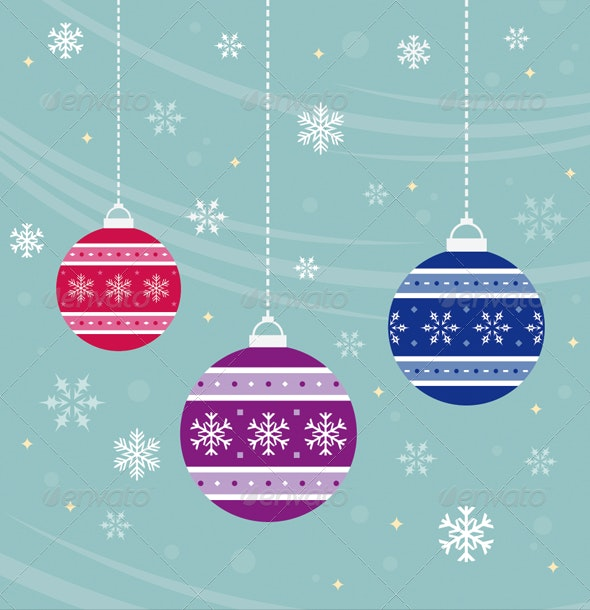 Christmas Baubles - Vector - Christmas Seasons/Holidays