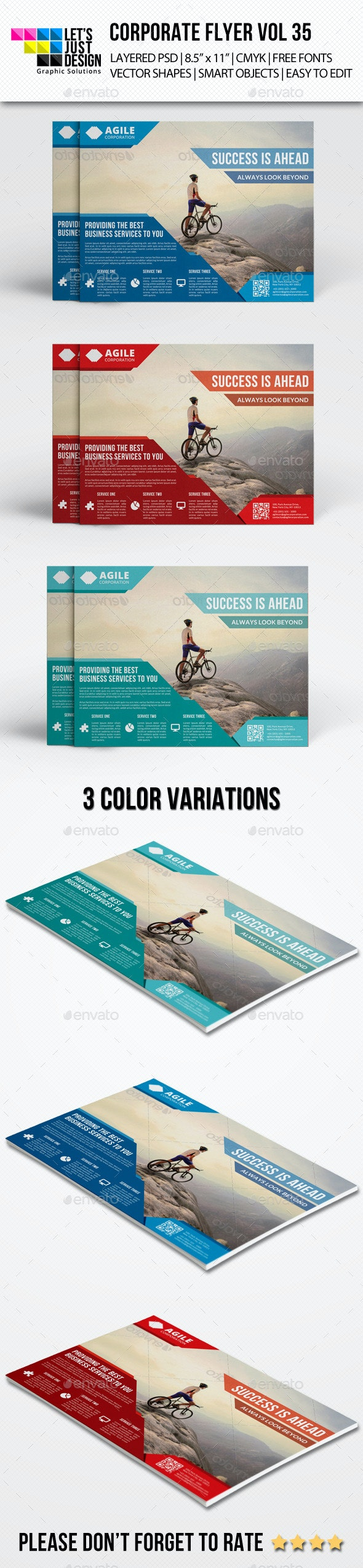 Corporate Flyer Template Vol 35 - Corporate Flyers