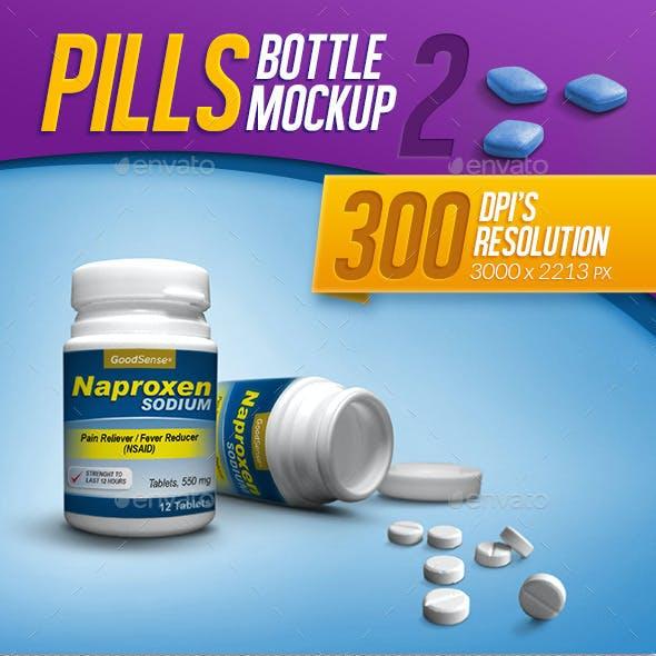 Medicine, Tablets, and Pills Bottle Mockup
