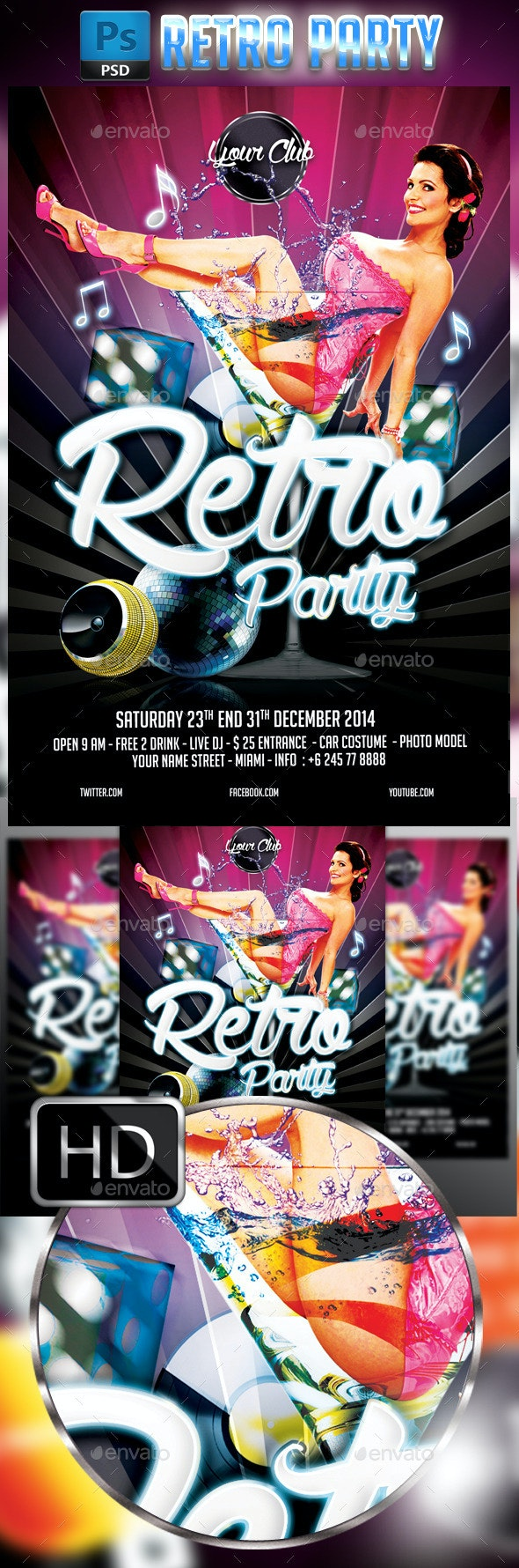 Retro Party #2 - Clubs & Parties Events