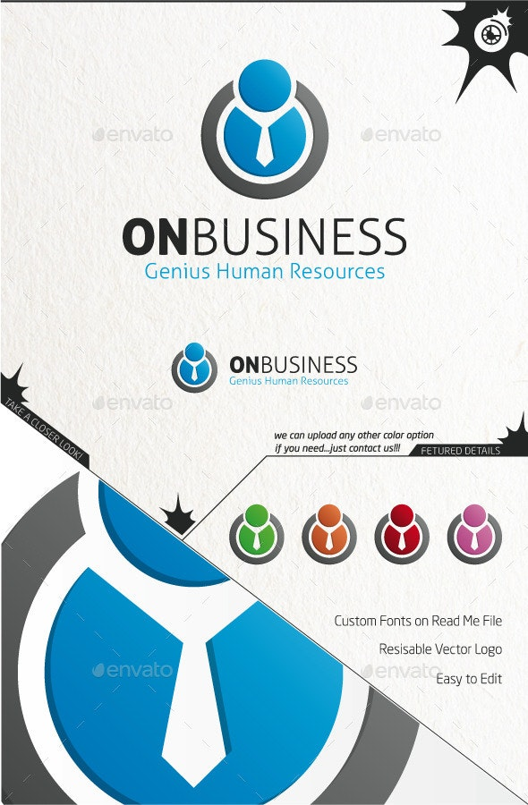 On Business - Humans Logo Templates